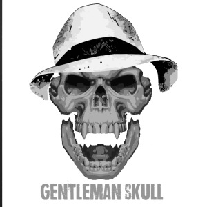 Gentleman skull vintage vector illustration art - iPhone 7 Plus Rubber Case