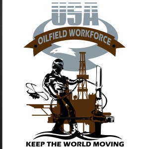 USA Oil Rig Workforce Keep The World Moving - iPhone 7 Plus Rubber Case