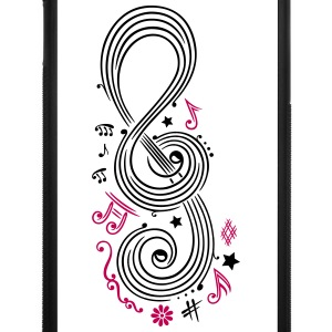 Big Clef with music notes - iPhone 7 Plus Rubber Case