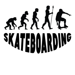 Skateboarding Evolution - iPhone 7 Plus Rubber Case