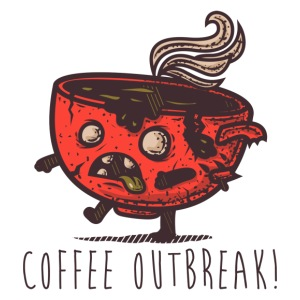 Coffee Outbreak - iPhone 7 Plus Rubber Case