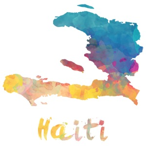 Haitian Watercolor Country - iPhone 7 Plus Rubber Case