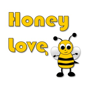 Honey Love with Honey Bee - iPhone 7 Plus Rubber Case