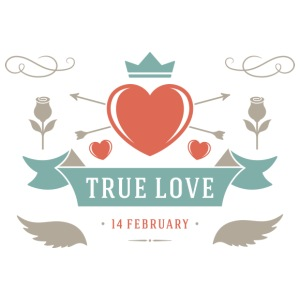 True Love 14 February Valentines Day - iPhone 7 Plus Rubber Case