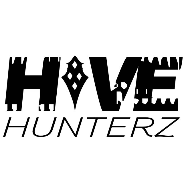 Hive Hunterz Black Logo