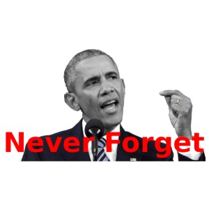 Obama Never Forget - iPhone 7 Plus Rubber Case