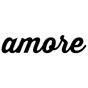 Amore - Cursive Design (Black Letters) - iPhone 7 Plus Rubber Case