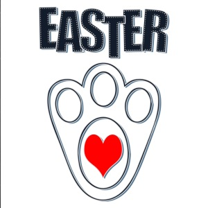 Easter Bunny Footprints, Easter Heart Bunny - iPhone 7 Plus Rubber Case