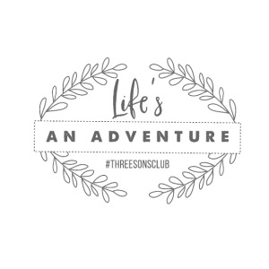 Life's An Adventure #threesonsclub Gray - iPhone 7 Plus Rubber Case