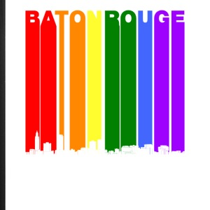 Baton Rouge Skyline Rainbow LGBT Gay Pride - iPhone 7 Plus Rubber Case