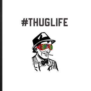 ThugLife- #ThugLife RetroMAn - iPhone 7 Plus Rubber Case