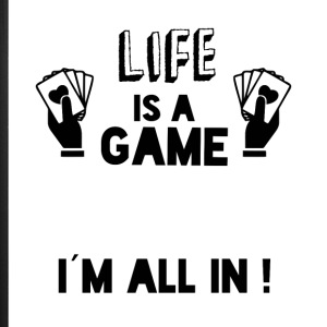 LIFE IS A GAME IAM ALL IN black - iPhone 7 Plus Rubber Case
