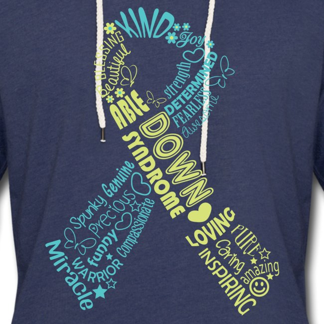 Down syndrome Ribbon Wordle
