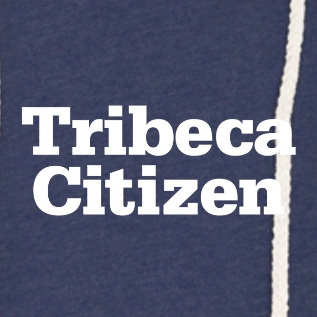 tribeca citizen stacked logo in white