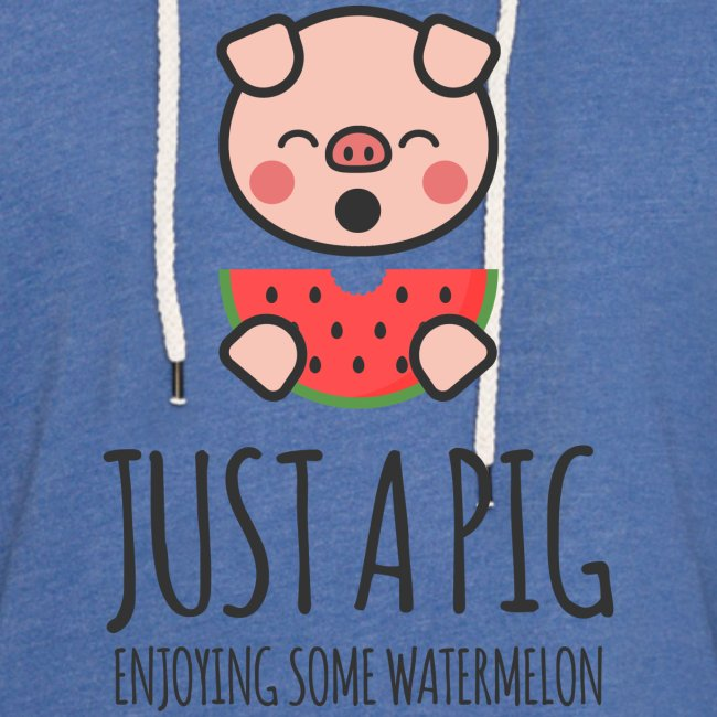 Just A Pig Enjoying Some Watermelon