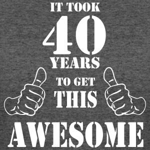 40th Birthday Get Awesome T Shirt Made in 1977 - Women's 50/50 T-Shirt