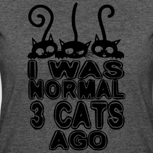 I was normal three cats ago - Women's 50/50 T-Shirt