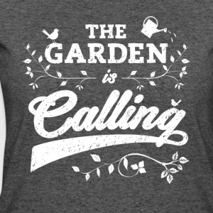 Funny Gardening Shirt: the Garden Is Calling - Women's 50/50 T-Shirt