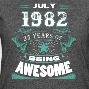 July 1982 - 35 years of being awesome - Women's 50/50 T-Shirt