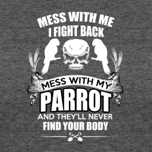 Parrot - Fight and gangster funny bird shirt - Women's 50/50 T-Shirt