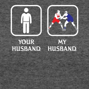 Husband Wrestling Love- cool shirt,geek hoodie,tan - Women's 50/50 T-Shirt