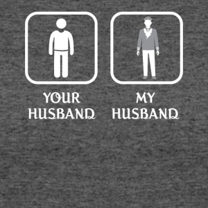 Husband Flight Attendant Love- cool shirt,geek hoo - Women's 50/50 T-Shirt