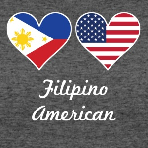 Filipino American Flag Hearts - Women's 50/50 T-Shirt