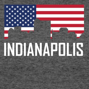 Indianapolis Indiana Skyline American Flag - Women's 50/50 T-Shirt