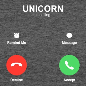 unicorn IPhone call Accept Decline - Women's 50/50 T-Shirt