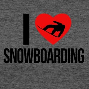 I LOVE SNOWBOARDING - Women's 50/50 T-Shirt