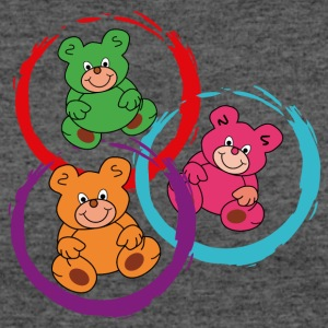three teddybears in circles - Women's 50/50 T-Shirt