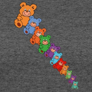 colorful teddy bears - Women's 50/50 T-Shirt