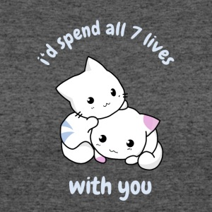 cat with you kitty love baby cute allways anime ma - Women's 50/50 T-Shirt