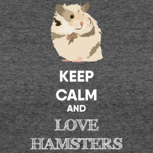 KEEP CALM AND LOVE HAMSTERS - Women's 50/50 T-Shirt