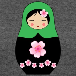 Green Matryoshka doll with flowers - Women's 50/50 T-Shirt