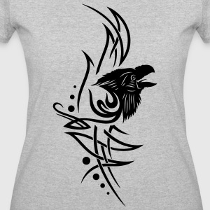 Tribal, tattoo with raven head. - Women's 50/50 T-Shirt