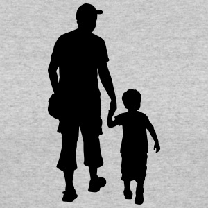 son and father silhouettes - Women's 50/50 T-Shirt