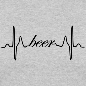 Beer ECG heartbeat - Women's 50/50 T-Shirt