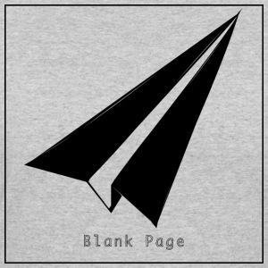 Blank Page Paper Airplane - Women's 50/50 T-Shirt