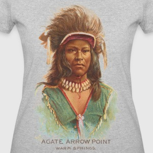 Native American Historical Art Agate Arrow Point - Women's 50/50 T-Shirt