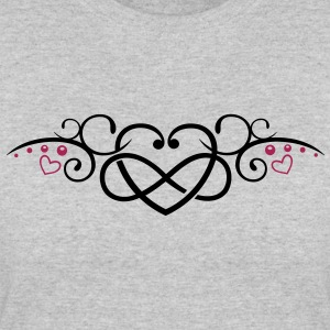 Heart with infinity, Tribal & tattoo style. - Women's 50/50 T-Shirt