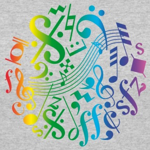 Colorful music notes and signs - Women's 50/50 T-Shirt