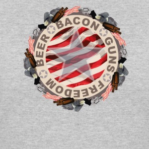 Beer Bacon Guns Freedom - Women's 50/50 T-Shirt