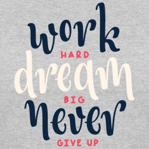 never give up | women's t-shirt - Women's 50/50 T-Shirt