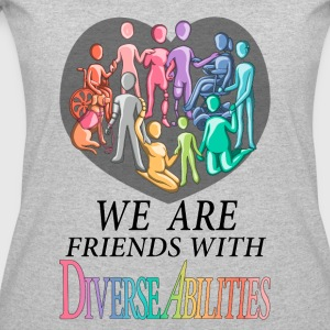 We Are Friends With DiverseAbilities - Women's 50/50 T-Shirt