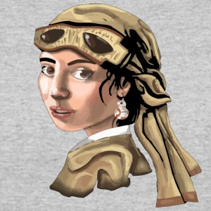 The Girl With The Droid Earring - Women's 50/50 T-Shirt