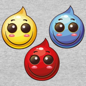 Paint Drops blue red yellow smile cool art - Women's 50/50 T-Shirt