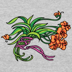 green_and_light_red_flowers - Women's 50/50 T-Shirt
