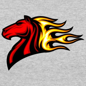 red_horse_in_fire - Women's 50/50 T-Shirt