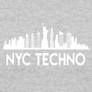 NYC Techno Skyline - Women's 50/50 T-Shirt